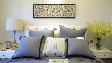 汉口公寓现代简约卧室效果图