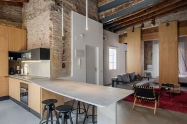 汉口公寓工业风厨房效果图