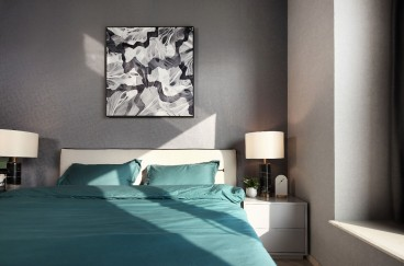 大华南湖公园世家后现代卧室效果图