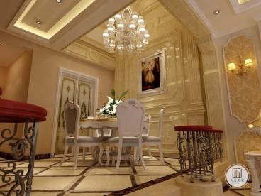 建投十号院欧式古典客厅效果图