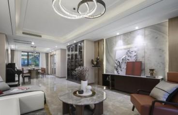轻奢设计风格现代轻奢客厅效果图