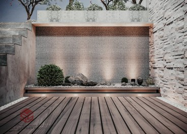 浅水湾现代轻奢花园效果图