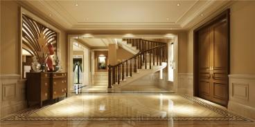 棕櫚泉山頂別墅美式玄關效果圖