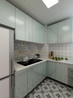 山海苑现代轻奢厨房效果图