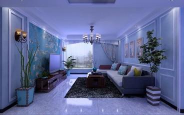 家装简美客厅效果图