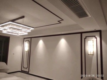 铂宫时代(东区)新中式客厅效果图