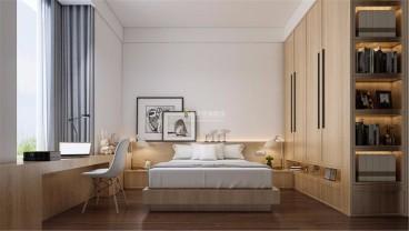 珠江新城海滨花园现代简约卧室效果图