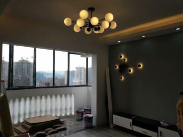 金鹏花园(广惠路)现代简约客厅效果图