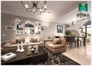 国贸公寓现代轻奢客厅效果图