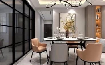 金鼎公寓现代轻奢餐厅效果图