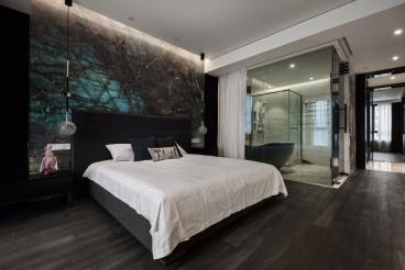 恒大悦珑台(建设中)现代简约卧室效果图