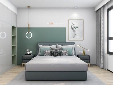 京基·御景中央现代轻奢卧室效果图