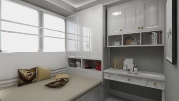 唐诗里现代轻奢卧室效果图