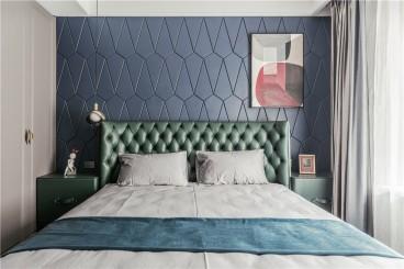 绿地IFC中央公馆(建设中)简美卧室效果图