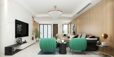 西湖湾西区(建设中)现代轻奢客厅效果图