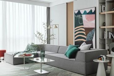 泰山七号物业美260㎡简美住宅,一方净土,慢享生活! 佳天下装饰式客厅效果图