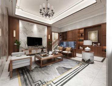 裕兴家园中式客厅效果图