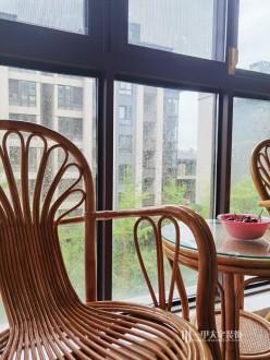水泊堂前花园新中式阳台效果图
