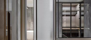 150㎡公寓设计,越简单、越精致!现代简约衣帽间效果图