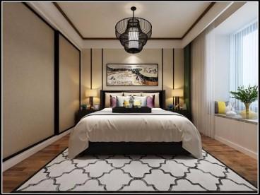 绿地悦麓名邸(建设中)现代轻奢卧室效果图
