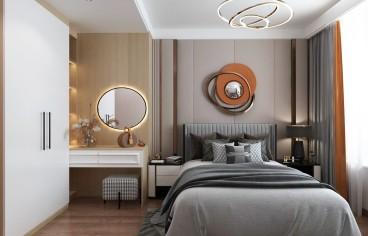 大尧风华盛景新中式卧室效果图