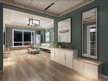 珠江聚隆港现代简约客厅效果图