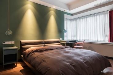 鸿升凯旋城现代简约卧室效果图