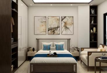 万基·蓝域中式卧室效果图