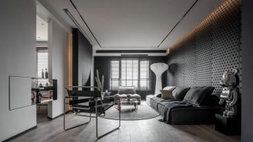 后现代客厅效果图