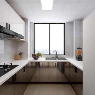 金色家園(黃浦江路)現代輕奢廚房效果圖