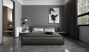 歌尔绿城后现代卧室效果图