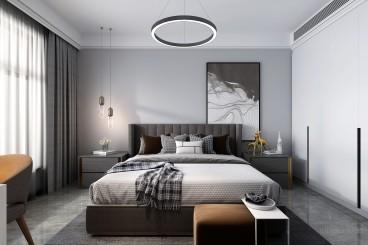 恒信·阳光假日A区时尚混搭卧室效果图