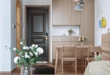 青年公馆88平两居阳光公寓现代简约餐厅效果图