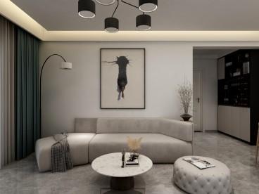 泰晤士广场现代简约客厅效果图