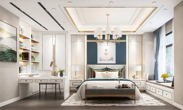 龙湖天琅现代轻奢卧室效果图