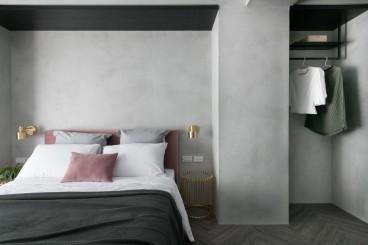 港式卧室效果图