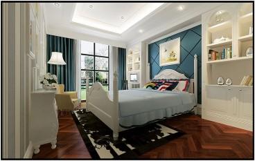 绿城·百合公寓法式风格卧室效果图