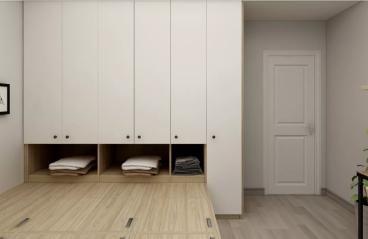 兴泰公寓现代简约衣帽间效果图