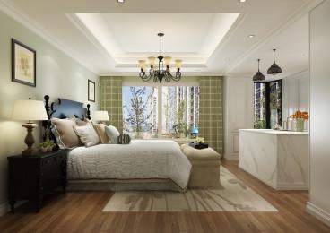 蓝光林肯公园美式卧室效果图