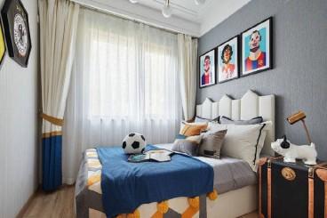 团结东里小区新中式卧室效果图