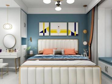 昆仑域·天赐学府(建设中)现代轻奢卧室效果图