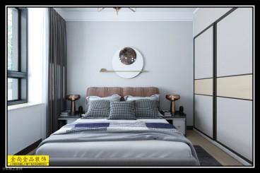 綠城·荷畔春風(建設中)現代簡約臥室效果圖