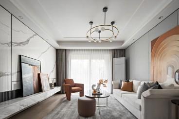 伟星国宾台(建设中)现代简约客厅效果图