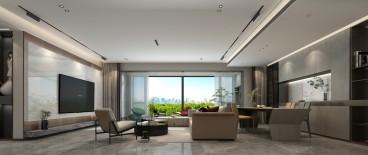 奥德·海棠(西门)现代简约客厅效果图