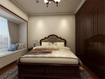 金湾花园美式卧室效果图