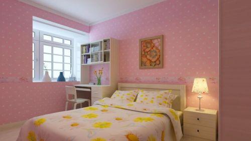 韩式女生卧室效果图