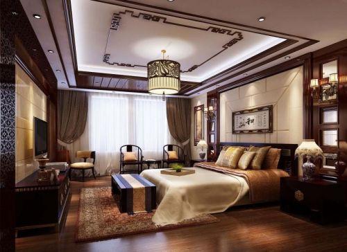 新中式家居卧室展示