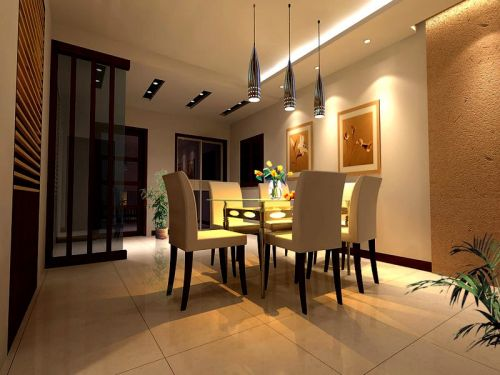 简欧风格家居餐厅设计效果图
