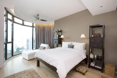 现代简约卧室装修图片