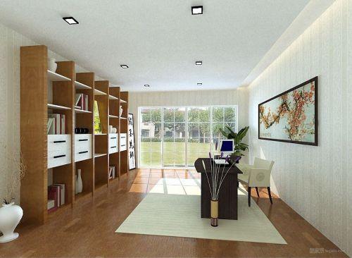簡單敞亮的書房設計